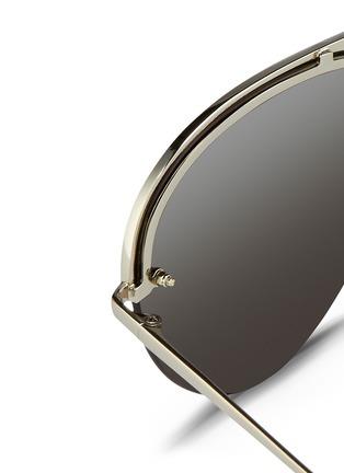 Detail View - Click To Enlarge - Linda Farrow - Half rim titanium aviator sunglasses