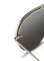 Half rim titanium aviator sunglasses