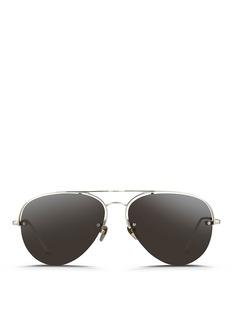 LINDA FARROWHalf rim titanium aviator sunglasses
