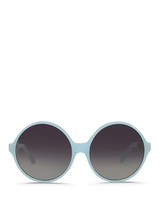 Main View - Click To Enlarge - Linda Farrow - Titanium caged temple acetate round sunglasses
