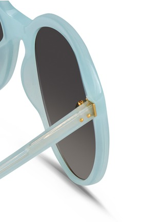 Detail View - Click To Enlarge - Linda Farrow - Oversize cat eye acetate sunglasses