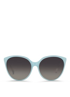 Linda Farrow Oversize cat eye acetate sunglasses