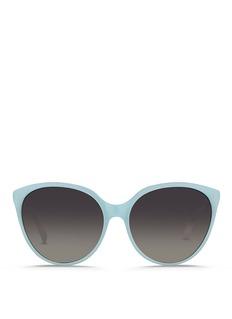Linda FarrowOversize cat eye acetate sunglasses