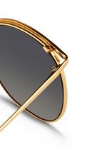 Titanium D-frame sunglasses