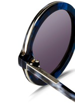 Layered shell effect acetate round sunglasses