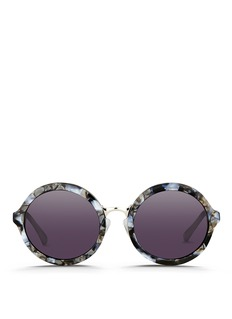 3.1 PHILLIP LIM Layered shell effect acetate round sunglasses