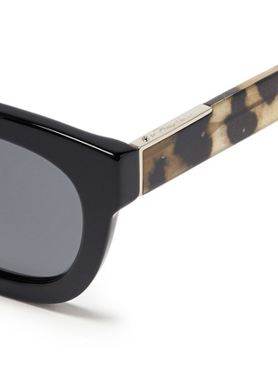 Detail View - Click To Enlarge - 3.1 Phillip Lim - Cheetah print temple acetate sunglasses