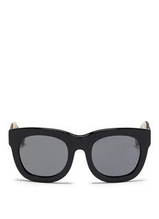 3.1 Phillip LimCheetah print temple acetate sunglasses