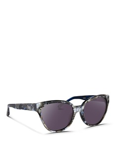 3.1 Phillip Lim Shell effect acetate cat eye sunglasses