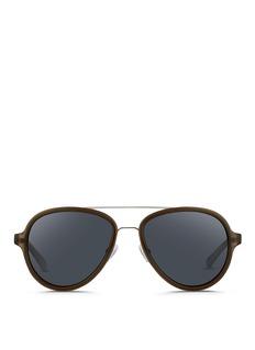 3.1 PHILLIP LIMWire rim acetate aviator sunglasses