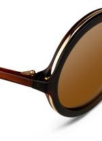 Layered gradient acetate round sunglasses