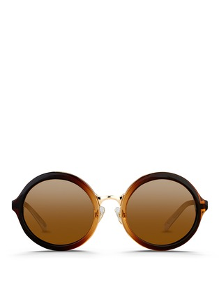 Main View - Click To Enlarge - 3.1 Phillip Lim - Layered gradient acetate round sunglasses