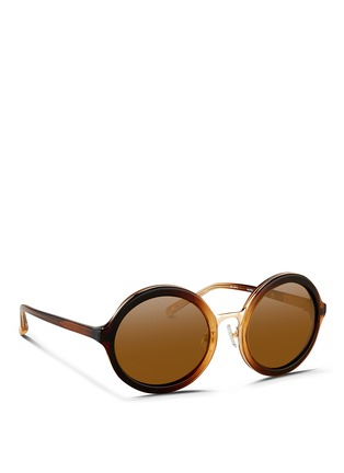 Figure View - Click To Enlarge - 3.1 Phillip Lim - Layered gradient acetate round sunglasses