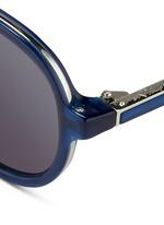 Wire rim acetate aviator sunglasses