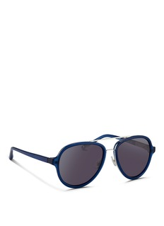 3.1 Phillip Lim Wire rim acetate aviator sunglasses