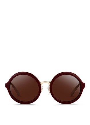 Main View - Click To Enlarge - 3.1 Phillip Lim - Layered acetate round sunglasses