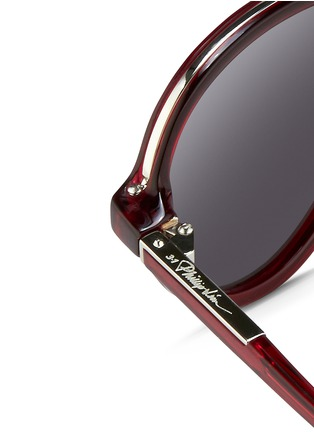 Detail View - Click To Enlarge - 3.1 Phillip Lim - Wire rim acetate aviator sunglasses