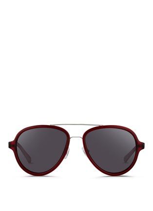 3.1 Phillip Lim-Wire rim acetate aviator sunglasses