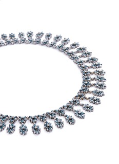 LC COLLECTION JEWELLERY Diamond 18k gold floral necklace