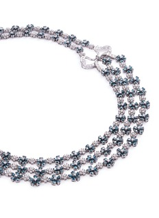 LC Collection Diamond 18k gold floral necklace