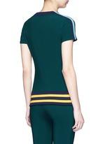 'Nui' stripe jersey panel performance T-shirt