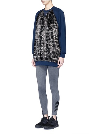 Figure View - Click To Enlarge - No Ka'Oi - 'Wela' faux fur panelled sweatshirt