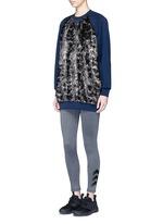 'Wela' faux fur panelled sweatshirt