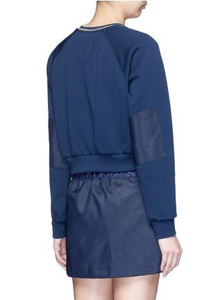 Back View - Click To Enlarge - No Ka'Oi - 'Wili' stripe knit trim raglan sweatshirt
