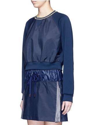 Front View - Click To Enlarge - No Ka'Oi - 'Wili' stripe knit trim raglan sweatshirt