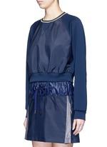 'Wili' stripe knit trim raglan sweatshirt