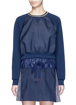 Main View - Click To Enlarge - No Ka'Oi - 'Wili' stripe knit trim raglan sweatshirt