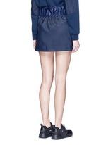 'Alika' faux fur pleated drawstring skirt