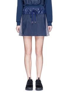 No Ka'Oi'Alika' faux fur pleated drawstring skirt