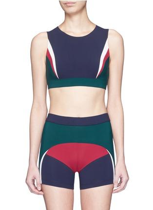 Main View - Click To Enlarge - No Ka'Oi - 'Lana' colourblock sports bra