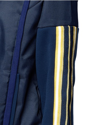 Detail View - Click To Enlarge - No Ka'Oi - 'U'I' stripe knit panel performance hooded jacket
