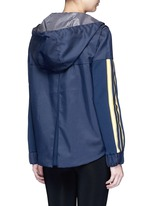 'U'I' stripe knit panel performance hooded jacket