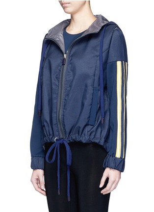 Front View - Click To Enlarge - No Ka'Oi - 'U'I' stripe knit panel performance hooded jacket