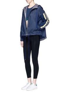 No Ka'Oi'U'I' stripe knit panel performance hooded jacket