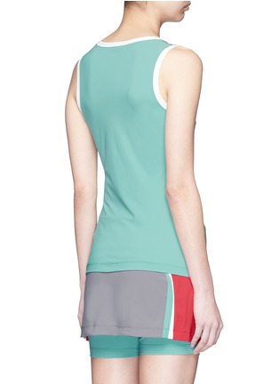 Back View - Click To Enlarge - No Ka'Oi - 'Mala' colourblock performance tank top