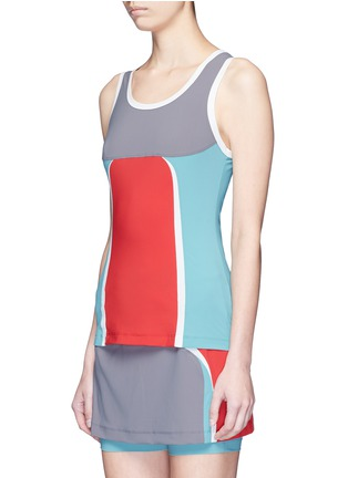 Front View - Click To Enlarge - No Ka'Oi - 'Mala' colourblock performance tank top
