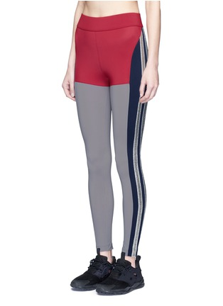 Front View - Click To Enlarge - No Ka'Oi - 'Kei' panelled performance leggings