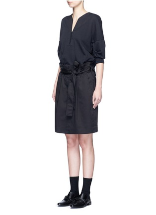 3.1 Phillip Lim - French terry twill combo belted utility dress