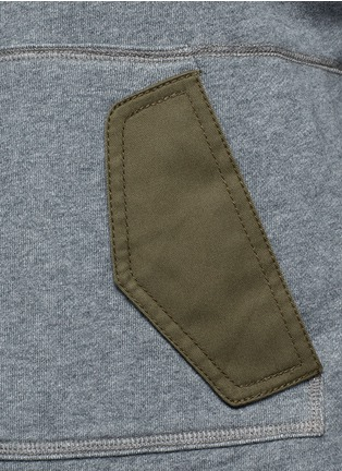 Detail View - Click To Enlarge - 3.1 Phillip Lim - Twill panel French terry utility sweatshirt