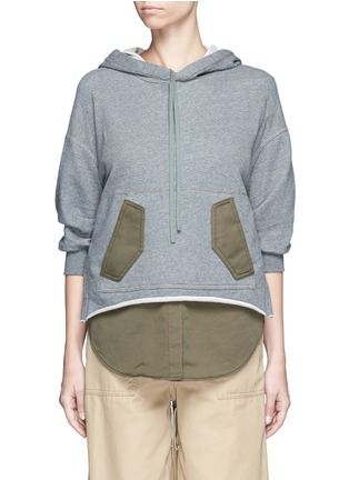 Main View - Click To Enlarge - 3.1 Phillip Lim - Twill panel French terry utility sweatshirt