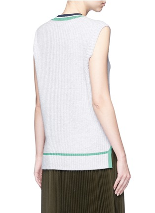 Back View - Click To Enlarge - 3.1 Phillip Lim - Collegiate sleeveless knit tank top