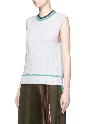 Front View - Click To Enlarge - 3.1 Phillip Lim - Collegiate sleeveless knit tank top