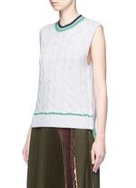 Collegiate sleeveless knit tank top