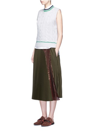 Figure View - Click To Enlarge - 3.1 Phillip Lim - Collegiate sleeveless knit tank top
