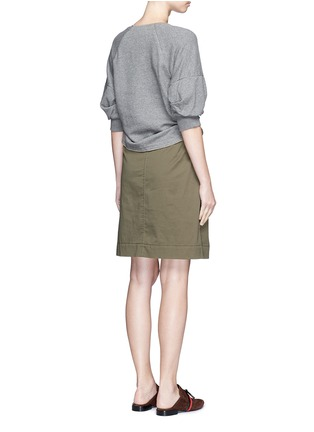 Back View - Click To Enlarge - 3.1 Phillip Lim - French terry twill combo belted utility dress