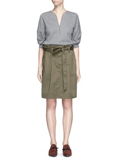 3.1 Phillip Lim French terry twill combo belted utility dress